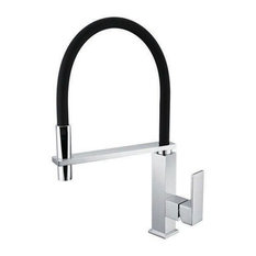 Modern Chrome-Plated Brass Pull-Out Kitchen Mixer Tap