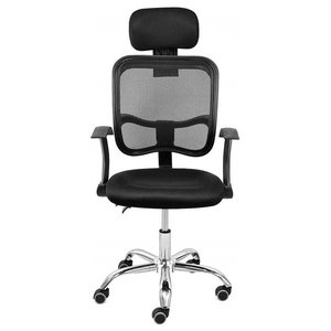 Modern Swivel Chair With Headrest and Armrest, Adjustable Height Design