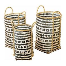 Eco Lodge Black and White Market Baskets