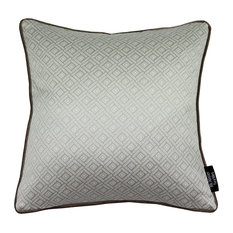 McAlister Textiles Elva Filled Cushion, Taupe, 43x43cm