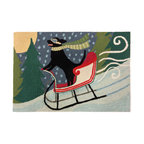 "Frontporch Sledding Dog Multi, 30""x20""x0.38"""