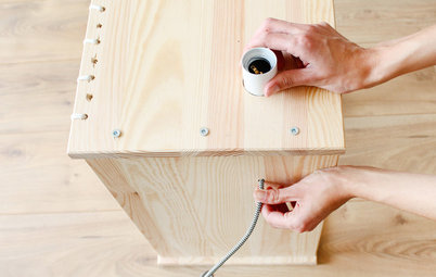 Ikea hack :  Transformez un chevet en table d'appoint originale