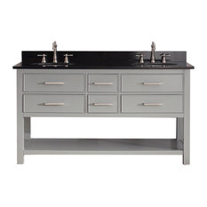 "Avanity Brooks 61"" Double Vanity, Chilled Gray Finish, Chilled Gray Finish"