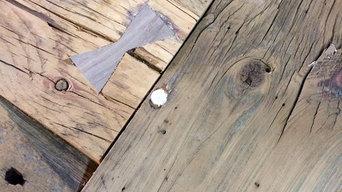 Reclaimed Barn Wood Harvest table