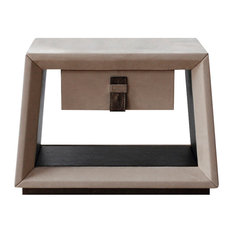 Tecninova - Tecni Nova Upholstered Bedside Table With Drawer - Nightstands And Bedside Tables