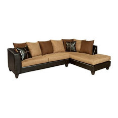 Microfiber Sectional Set Brown By Vig Furniture Inc. ...