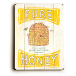 Artehouse - Pure Honey Wooden Sign, 20x14 - Wooden wall d̩cor perfect for your home or office remodel!  All signs are ready to hang, all you need is a space on your wall.