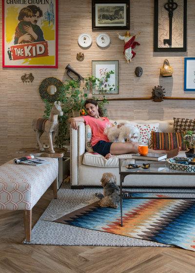 Contemporary Living Room by P S Design