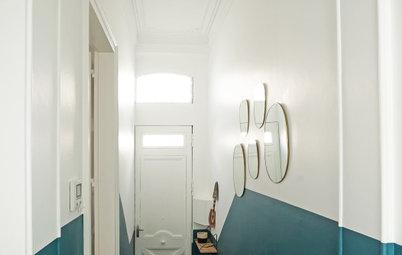 Avant/Après : À Bordeaux un couloir d'entrée retrouve du peps