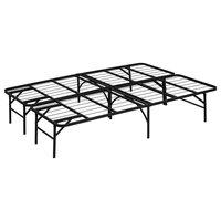 Furinno Angeland Mattress Foundation Platform Metal Bed Frame, Full