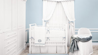 Palm Beach Blue Crib Bedding