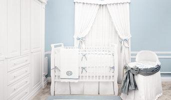 Palm Beach Blue Crib Bedding