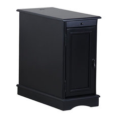 Powell Furniture Butler Accent End Table in Black