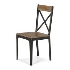alina bark chaise indus en orme et mtal chaise de salle manger