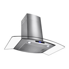 Akdy Home Improvement Wall Mount Stainless Steel Tempered Gl Touch Panel Range Hood