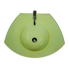 New Generation Ecoloom Trapezoidal Glass Countertop, Yellow