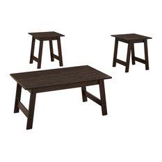 Monarch 3-Piece Coffee Table Set, Cappuccino
