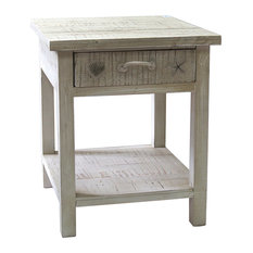 Crestview Collection   Seaside White Coastal End Table   Side Tables And End  Tables