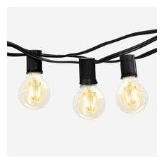 Brightech Ambience Globe G40 Waterproof LED String Lights, 1W, 26', Black