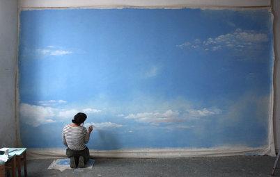 Malerei im Raum: Inka und die Wunderwand