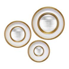 Round Mirrors, Set of 3
