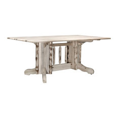 Montana Log Collection Wood Pedestal Dining Table In Ready To Finish MWDPTN