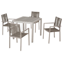Beach Style Outdoor Dining Sets by GDFStudio