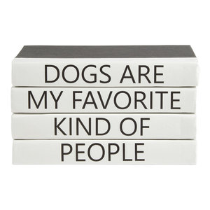 4 Piece Dogs Quote Decorative Book Set