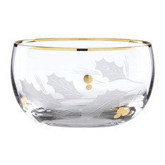 Holiday™ Gold Glass Nut Bowl