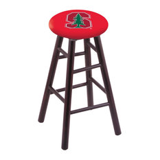 Maple Counter Stool Dark Cherry Finish With Stanford Seat 24-inch