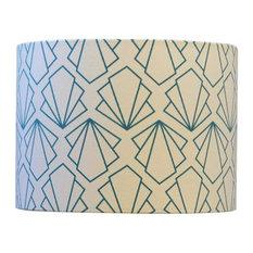 Sunbeam Drum Pendant Lampshade, Turquoise, Medium