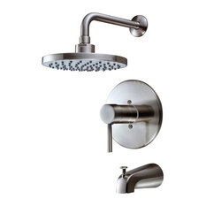 Bathtub Shower Faucet Combo Adler 1 Handle 4 Spray Tub and Shower