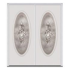 """Heirloom Master Large Oval Fiberglass Double Door 62""""x81.75"""" LH In-Swing"""