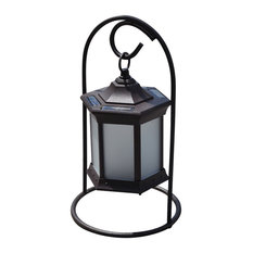 Solar Lantern Arch Stand, Frosted Glass