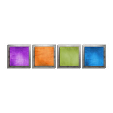 Seasonal Essence, Colorful Rainbow Metal Artwork, Contemporary Decor