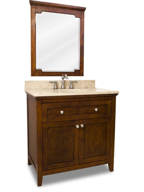 Distressed Shaker Vanity Set Brown Three Door Bathroom Vanities