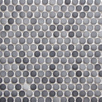 """districtII - 12""""x12"""" Gradient Gray Penny Round Mosaic Tile - Price is per sheet"""