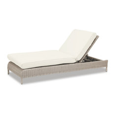 Sunset West Manhattan Adjustable Chaise With Cushions, Linen Canvas