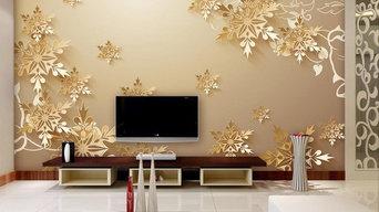 Golden snowflakes 3D room wallpaper beautiful bedroom wallpaper custom non-woven