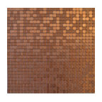 "11.38""x11.38"" Peel and Stick Backsplash Tile, ""Copper Coin"", Single Tile"