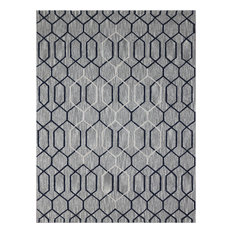 Dwell Contemporary Taupe Hand-Tufted Rug 7'6x9'6