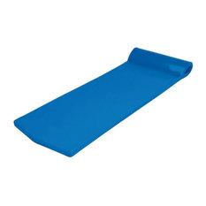 California Sun Deluxe Oversized Unsinkable Foam Cushion Pool Float, Ocean Blue
