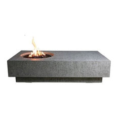 Elementi - Cast Concrete Metropolis Table Fire Feature, Liquid Propane - Fire Pits