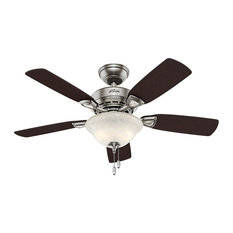 50 most popular modern ceiling fans for 2018 houzz hunter fan company hunter 44 caraway five minute fan brushed nickel ceiling fan with aloadofball