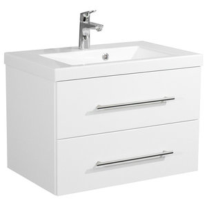Emotion Infinity 700 Bathroom Furniture, White High-Gloss, 70.4 cm, White High-G