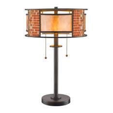 Parkwood 2 Light Table Lamp in Bronze