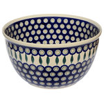 "Polish Pottery Market - Polish Pottery Mixing Bowl, Large - Dimensions: Height: 6"" Diameter: 10.3"" Capacity: 19 cups"