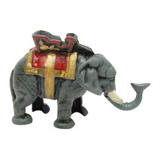 Circus Elephant Collectors' Die-Cast Iron Mechanical Coin Bank
