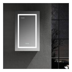 LED Medicine Cabinet With Defog, Dimmer, Makeup Mirror, Outlets, 20/L/3x