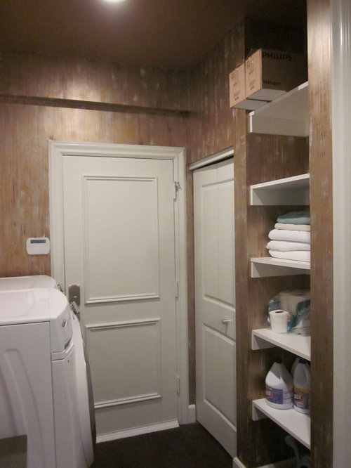 Houzz | Modern Laundry Room with Dark Hardwood Floors Design Ideas & Remodel Pictures
